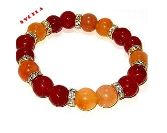Bracelet for Women,10mm Carnelian,Beaded Bracelet,Fine Jewelry,Stretch Bracelet,Bracelet Charms ,Beaded Stretch Bracelet,Gemstone Bracelet