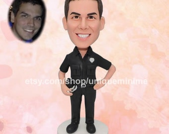 Mens Bobblehead dolls USA Boyfriend gift Father gift   Custom gift Custom Figurine Bobblehead dolls   Groomsmen Gifts Father's day