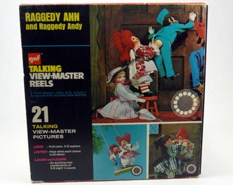 Raggedy Ann and Raggedy Andy Vintage View-Master - Vintage View-Master - Vintage Talking View-Master Reels