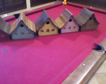 Hand made wooden birdhouse