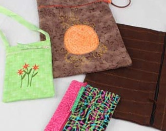 OESD In The Hoop Zippered Pouches