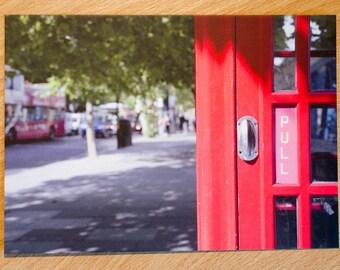 Postcard, London, Red Phone Box, Street, Kodak, Portra 160, Film, Analogue, Photography, Photo, Print,