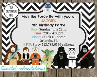 Star Wars Birthday Invitation, Star Wars Photo Invitation, Star Wars Photo Invite, Star Wars Birthday Invite