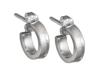 Silver Earrings - Small Hoops