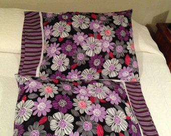 Colorful Flowered Pillowcase