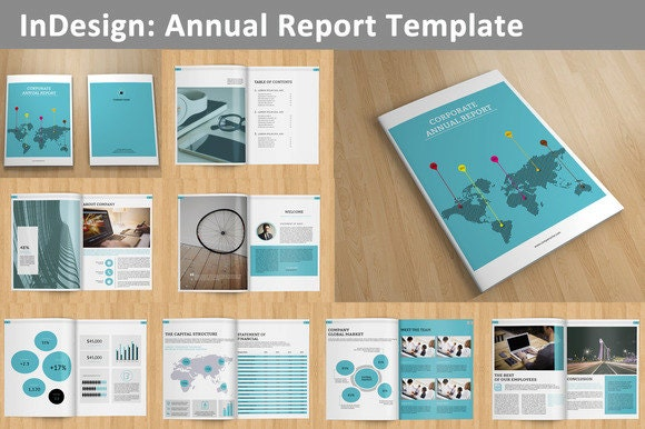 InDesign Annual Report template 16 pages V01 – Corporate Report Template