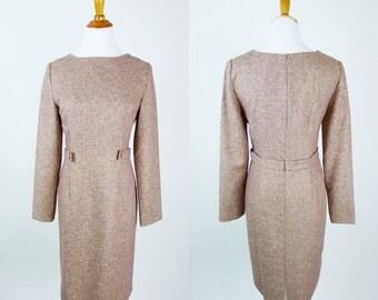 vintage 1970s dress • Autumn in Cambridge Dress • vintage 70s boat neck dress