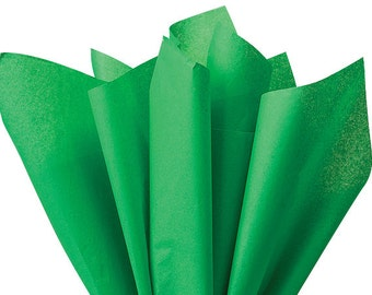 """Kelly Green Tissue Paper 480 sheets 100% Recycled 20""""x30"""" Shamrock Green"""