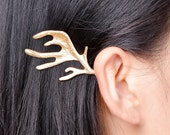 Gold Antler hair clip hair grips antler bobby pins 'Game of Thrones' Inspired Woodland Hair Clip Boho House Baratheon Boho Fantasy