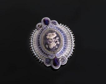 "Soutache brooch ""Athena"""