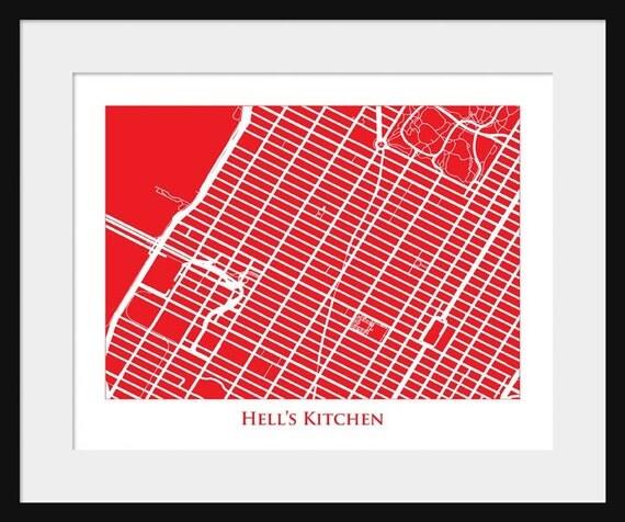 Hell's Kitchen Map Manhattan Map Neighborhood