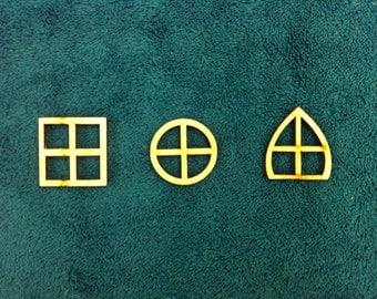 Laser Cut Wooden Fairy Elf Hobbit Windows Pack of 10