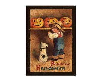 Halloween sign-dog plaque