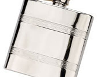 6oz Celtic band Stainless Steel Hip Flask