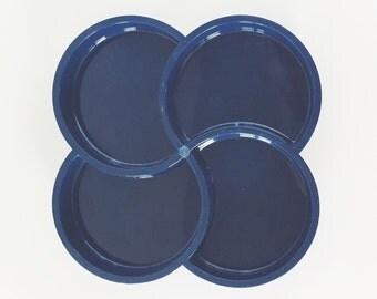 Navy Blue Plate Etsy