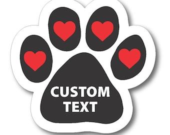 Custom Car Magnet Etsy - Custom car magnets paw print