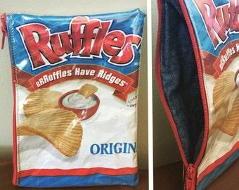 Ruffles Chip Zipper Pouch