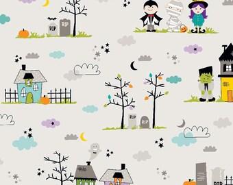 Riley Blake Halloween Magic Main by Bella Blvd. (C4610 GRAY)