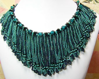 Statement Necklace Fringe Beadwork