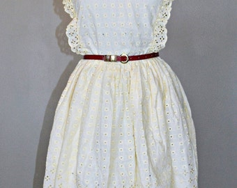 African Clothing Lace Women Dress Cream
