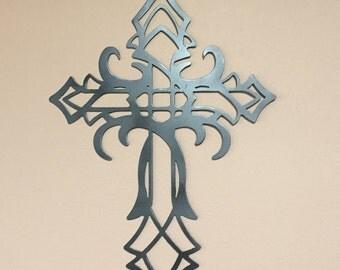 Cross unique metal design wall art - Metal Cross Wall Decoration