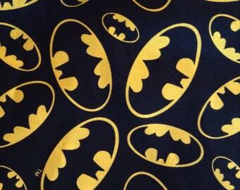 Batman Logo Cotton Fabric BTY.