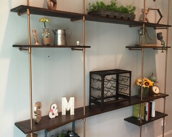 8'x8' Industrial pipe shelve system