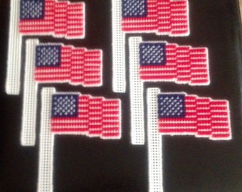 American Flags Handmade for Car Antenna-Plants-Windows