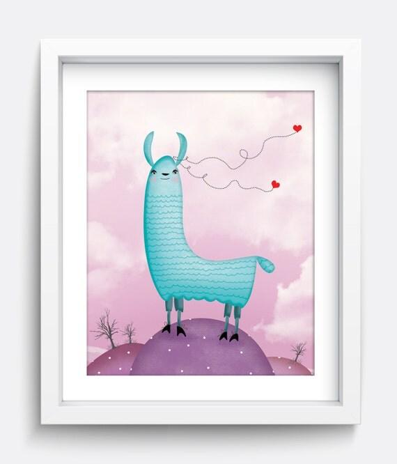 Wall Art Prints Download : Llama art print printable wall instant download