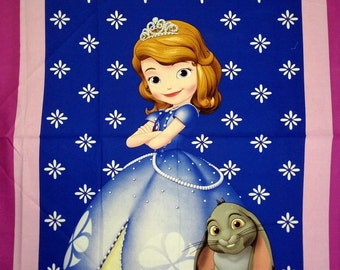 Sofia the First Panel Fabric