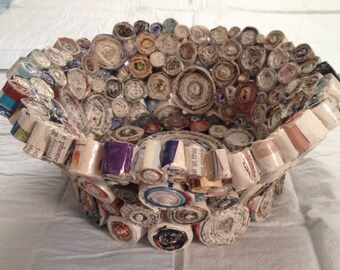 Upcycled Coiled Magazine Bowl