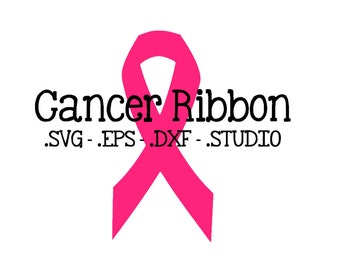 Cancer Ribbon SVG - Cancer Ribbon DXF - Cancer Ribbon EPS - Cancer Ribbon Silhouette Studio Cut File - Cancer Ribbon Cuttable - Cancer svg