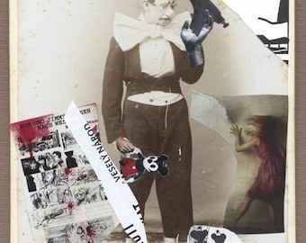 "surreal collage ""Funny nation"" surreal Art, collage, Art, Comics,mickey mouse, cabinet photo"