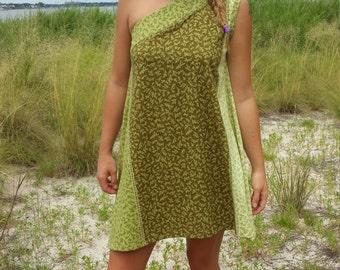 handmade,  one shoulder dress