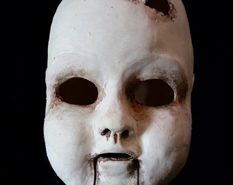 Full Latex Creepy Doll Mask