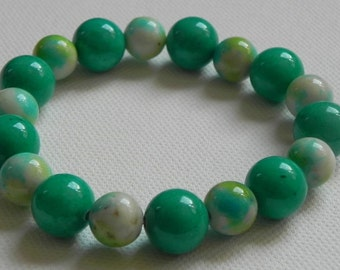 Elastic strap Jade beads (different colours)