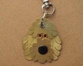 Goldendoodle Pet Tag Dog ID Metal Keychain