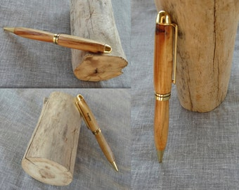 Dauphin Island driftwood pen, hand turned and customized for you!