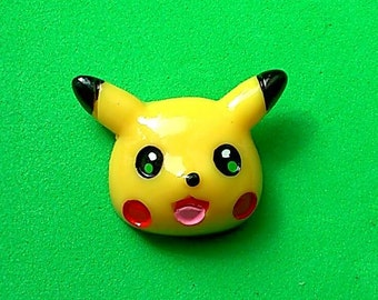 Fashion ring with anime style Pikachu head, adjustable