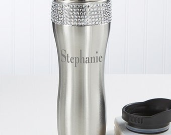 Glitz and Glam Personalized Stainless Steel Tumbler with Name