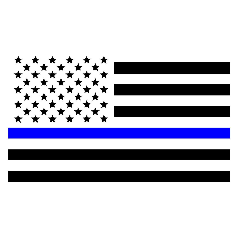 thin blue line american flag law enforcement car window