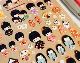 Kokeshi Doll Sticker