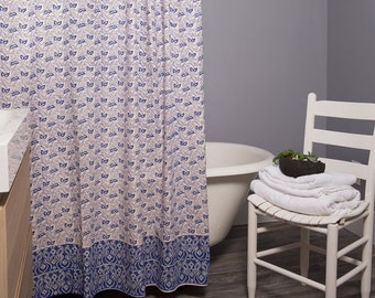 Paisley Pattern Shower Curtain-Block Print