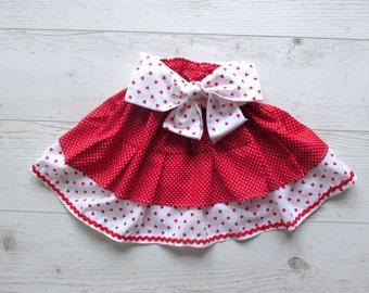 Red Toddler Skirt, Red Girls Skirt, Toddler Ruffle Skirt, Baby Ruffle Skirt,  Girls Skirt , 2 Tiers Skirt, Tiered Skirt