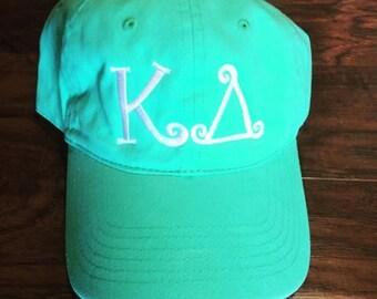 Monogrammed Greek Sorority Baseball Cap - KD Kappa Delta