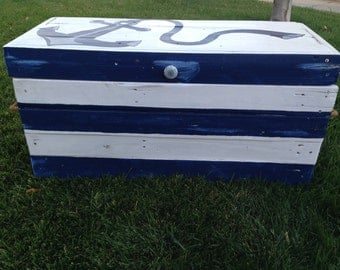 Custom Toy Box-Nautical Toy Box-Nautical Theme-Large Custom Toy Box-Childrens Toy Box-Hope Chest