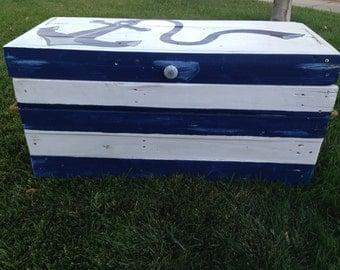 Custom Toy Box-Nautical Toy Box-Nautical Theme-Large Custom Toy Box-Childrens Toy Box-Hope Chest