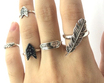 Couple Arrow Rings (Sterling Silver)