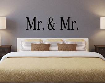 Mr. and Mr. 1 vinyl wall decal