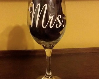 Mrs. & Mr. Wine glasses